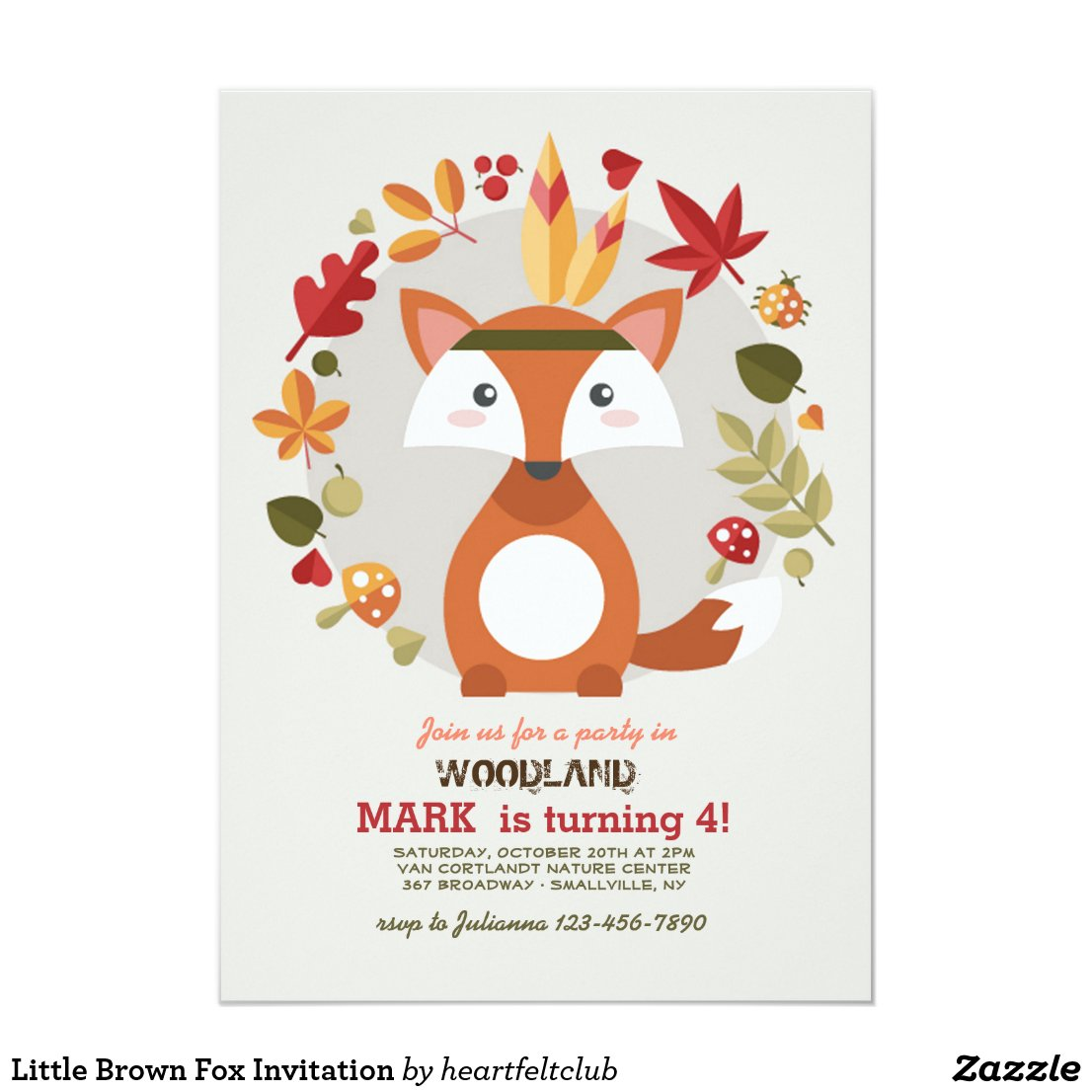 Little Brown Fox Invitation
