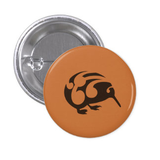 Little Brown KIWI badge Button