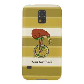 Little Brown Kiwi On A Red Unicycle Galaxy S5 Case