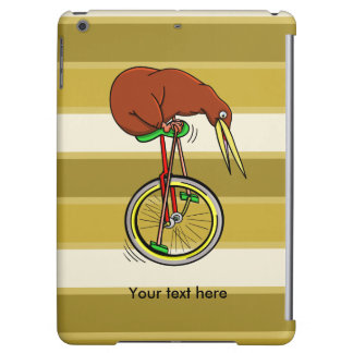 Little Brown Kiwi On A Red Unicycle iPad Air Covers