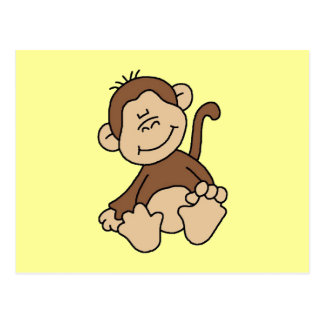 Little Brown Monkey Tshirts and Gifts Postcard