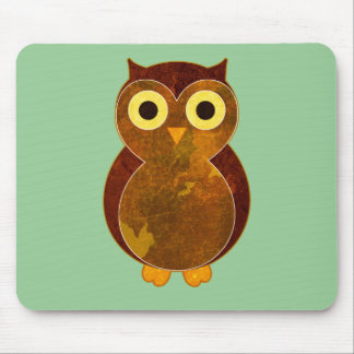 Little Brown Owl Mouse Pad