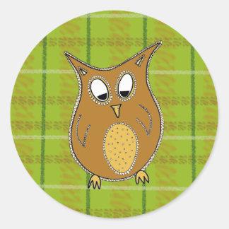 Little brown owl sticker