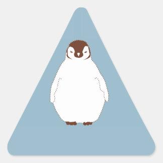Little Brown Penguin Triangle Sticker