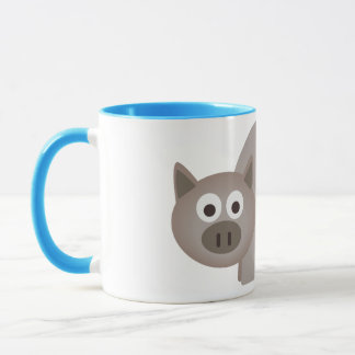 Little Brown Pig Mug