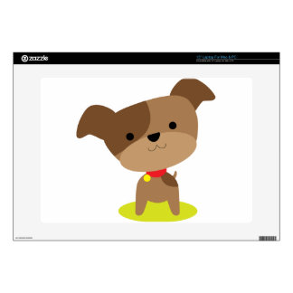 "little brown pup 15"" laptop decal"
