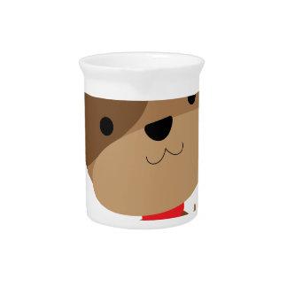 little brown pup beverage pitcher
