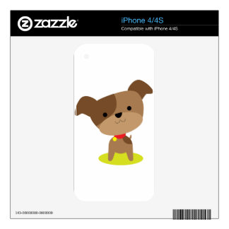 little brown pup decals for the iPhone 4