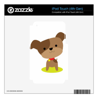 little brown pup iPod touch 4G decal