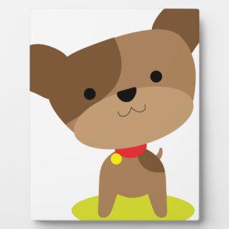 little brown pup plaque