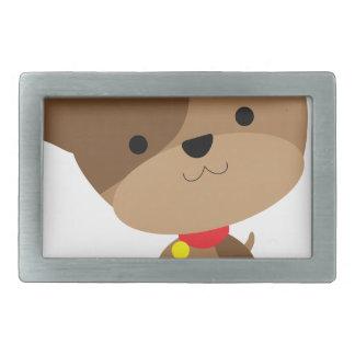 little brown pup rectangular belt buckle
