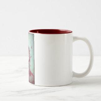 Little Brown Sleeping Wolf Two-Tone Coffee Mug