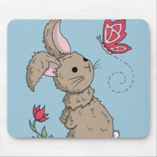 Little Brown Spring Bunny Mousemat