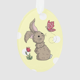 Little Brown Spring Bunny Ornament