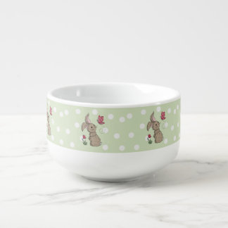 Little Brown Spring Bunny Soup Mug