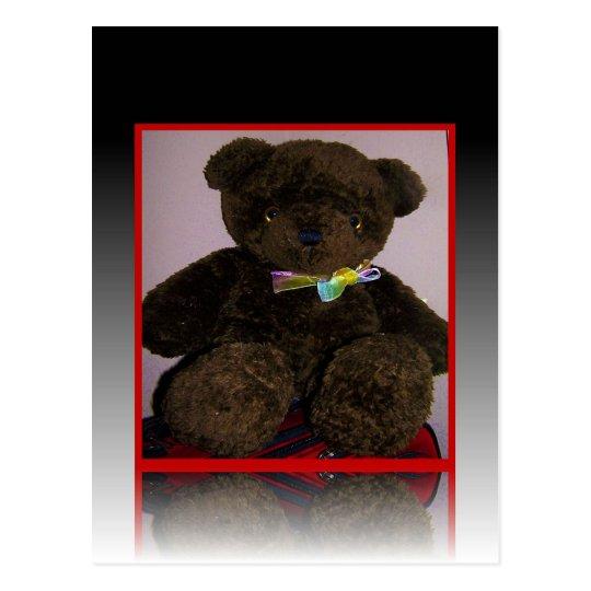 Little Brown Teddy Bear Postcard
