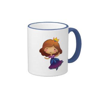 Little Brunette Princess Coffee Mugs