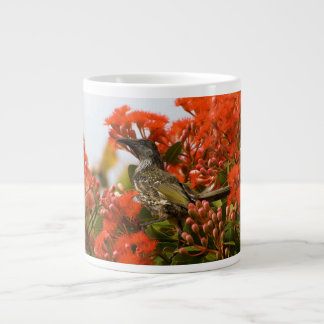 Little Brush Wattlebird Anthochaera Chrysoptera Large Coffee Mug