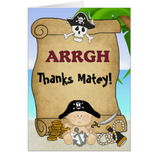 Little Buccaneer Pirate Thank You Card