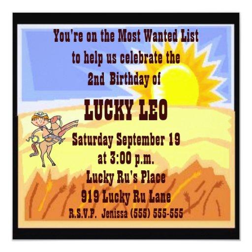 Little Buckaroo Birthday Party Invitation