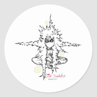little buddha bubbles classic round sticker