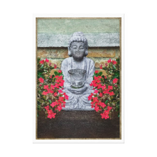 Little Buddha Sculpture Collage Gallery Wrap Canvas