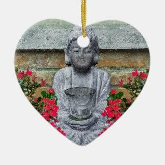 Little Buddha Sculpture Collage Ceramic Ornament