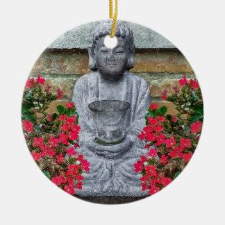 Little Buddha Sculpture Collage Ornament