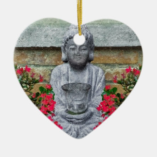 Little Buddha Sculpture Collage Christmas Ornaments