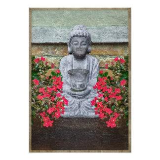 Little Buddha Sculpture Collage Photo