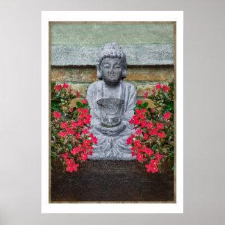 Little Buddha Sculpture Collage Poster