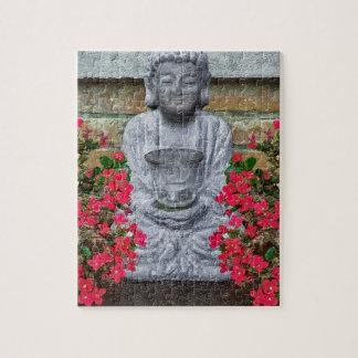 Little Buddha Sculpture Collage Jigsaw Puzzle