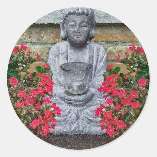 Little Buddha Sculpture Collage Sticker