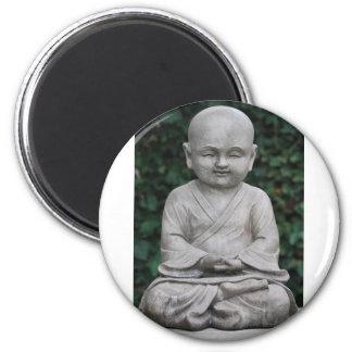 Little Buddha Statute in Garden Magnet