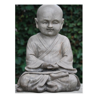 Little Buddha Statute in Garden Postcard