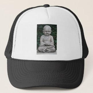 Little Buddha Statute in Garden Trucker Hat