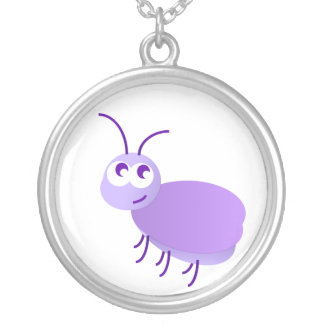 Little Bug Round Pendant Necklace