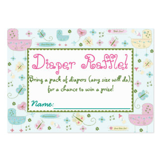 Little Buggy Baby Shower Diaper Raffle Tickets Large Business Card