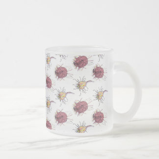 Little bugs frosted glass coffee mug