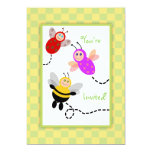 Little Bugs Ladybug, Bumble Bee, Butterfly Party Invitations