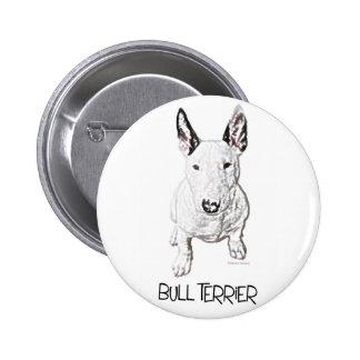 Little Bull Terrier (Pencil) 2 Inch Round Button