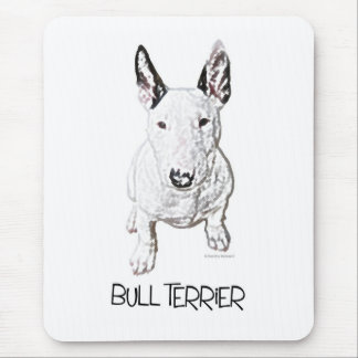 Little Bull Terrier (Pencil) Mouse Pad