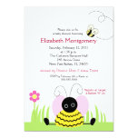 Little Bumble Bee Baby Shower 5x7 5x7 Paper Invitation Card