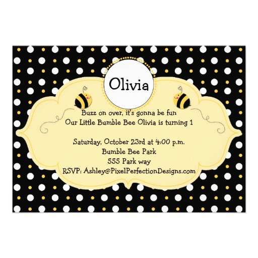 Little Bumble Bee Invite