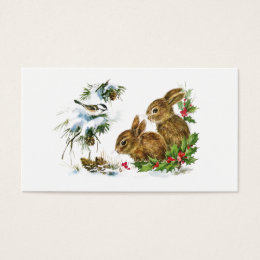 Little Bunnies Christmas Business Card
