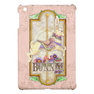 Little Bunny Baby Girl Circus Carousel Vintage Art iPad Mini Covers