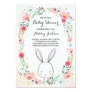 Little Bunny Baby Shower Invitation Fl