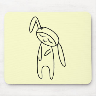 little bunny doll mouse pad
