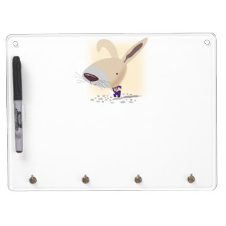 Little Bunny Dry Erase Board With Keychain Hooks
