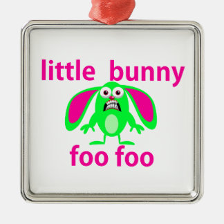 LITTLE BUNNY FOO FOO METAL ORNAMENT